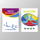 Beach Volleyball Games cover design Stock Photo
