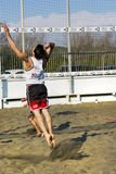 Beach volleyball team match Royalty Free Stock Photo