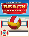 Beach Volleyball Tournament Flyer Illustration Royalty Free Stock Photos