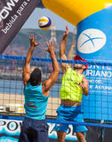Beach volleyball tournament Royalty Free Stock Images