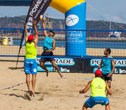 Beach volleyball tournament Stock Images
