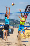 Beach volleyball tournament Royalty Free Stock Photography