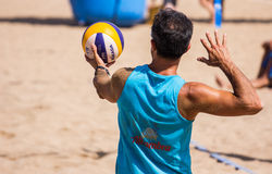 Beach volleyball tournament stock photo