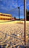 Beach Volleyball Waiting 1. Photo taken on the beach at Henley Square featuring a volleyball net and ball royalty free stock photo