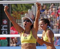 Beach volleyball woman poland Stock Photos