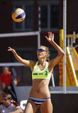Beach Volleyball Woman Russia Serve Ball Royalty Free Stock Photos