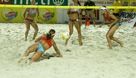 Beach volleyball- Womens' semifinal Stock Photo