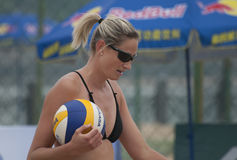 2014 Beach Volleyball World Tour. 2014 FIVB  Beach Volleyball World Tour in Fuzhou China Stock Images