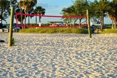 Beach Vollyball net on Ben T Davis Beach Stock Images