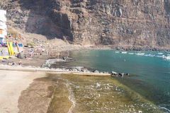 Beach of Vueltas on La Gomera Royalty Free Stock Photos