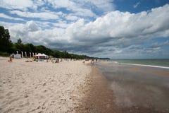 Beach in Władysławowo Stock Image