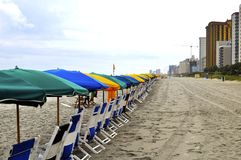 Beach waiting for visitors Royalty Free Stock Image