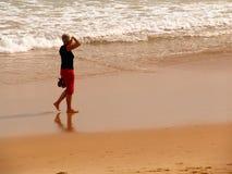 Beach walk Royalty Free Stock Photo