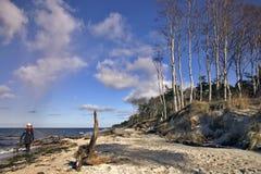 Beach Walk. At the Baltic Sea Coast of Darss Island, Germany Stock Photography