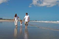 Beach walk stock image