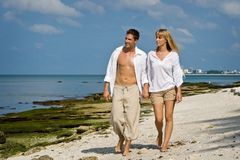 Beach walk Royalty Free Stock Photography