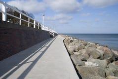 Beach walk. In travemuende, germany Royalty Free Stock Photos