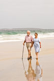 Beach walk Stock Photos