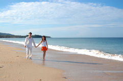 Beach walk Royalty Free Stock Images