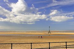 Beach walk, Crosby, Liverpool Stock Photography