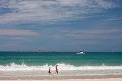 Beach walking Royalty Free Stock Photo