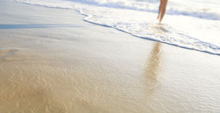 Beach Walking Royalty Free Stock Photography