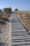 Beach walkway Stock Photo