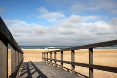 Beach Walkway Stock Photo