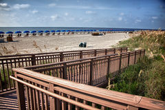 Beach walkway Royalty Free Stock Photo