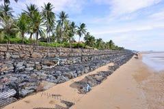 Beach Wall Construction Royalty Free Stock Photos