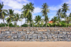 Beach Wall Construction Royalty Free Stock Photography