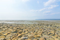 Beach wall stone Royalty Free Stock Photos