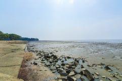 Beach wall stone Stock Photography