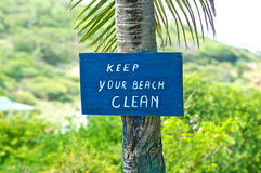 Beach Warning Sign Stock Photography