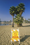 Beach warning sign Royalty Free Stock Photos