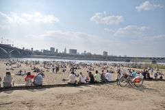 Beach in Warsaw Stock Image