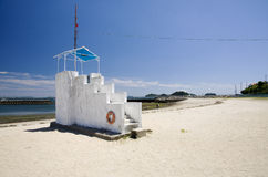 Beach watch tower Royalty Free Stock Photography