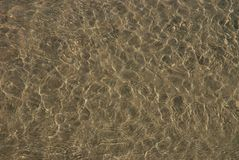 Beach water background. Water ripple pattern at the beach Royalty Free Stock Photography