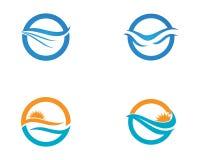 Beach water eave logos symbols.  Stock Photography