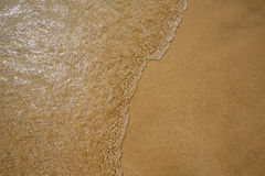 Beach water and sand texture background Royalty Free Stock Photos