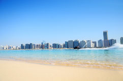 Beach and water sport in Abu Dhabi,UA Stock Photo