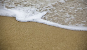 Beach wave. Waves in the sea that die in the coast Stock Photography