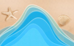 Beach wave stock image