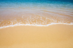Beach and wave background Royalty Free Stock Images