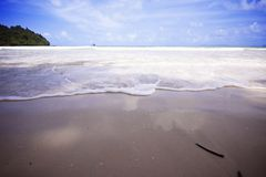Beach and Wave Stock Images
