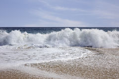 Beach wave closeup Royalty Free Stock Photos