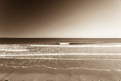Beach Wave Horizon Vintage Stock Image