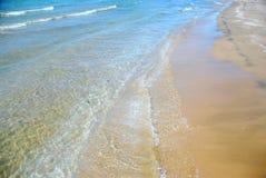 Beach wave sand Stock Photos