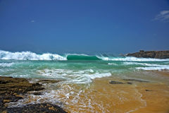 Beach  with waves Royalty Free Stock Photos