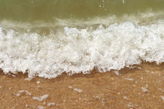 Beach waves. It is very beautiful Royalty Free Stock Photography